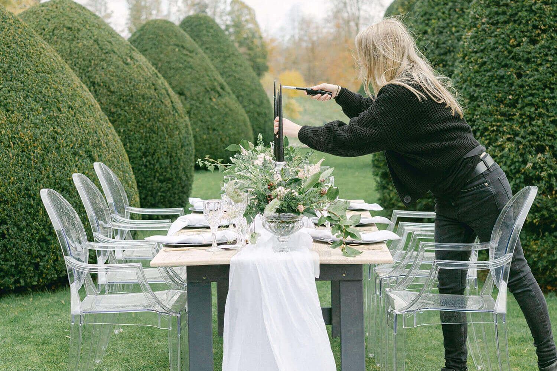 Amie Jackson UK Wedding Planner lighting candles