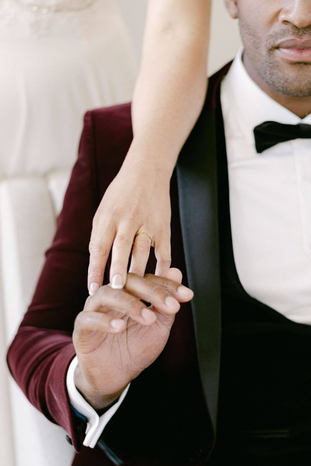 Lovers touching hands wedding - Wedding planner surrey
