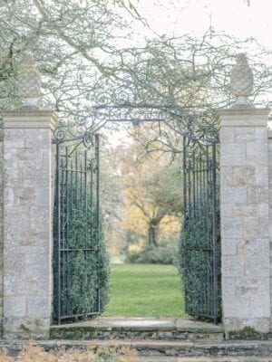 Claire Graham Cornwell manor gardens with metal gate