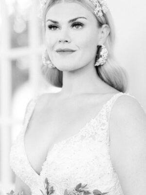 Bride at Cornwell Wedding Venue - Amie Jackson Weddings & Events - elegant wedding planner surrey