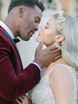 Bride and Groom Kissing - Amie Jackson Weddings & Events planner Surrey, UK - Wedding planner surrey