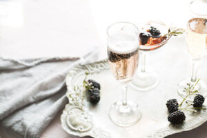 Champagne and berries are a firm favourite - parties celebrations surrey