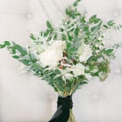 Bouquet of white flowers and green - Wedding planner surrey